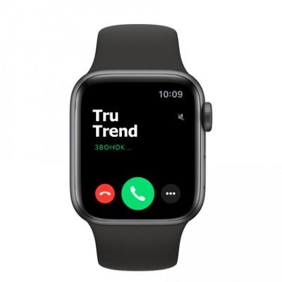 Apple Watch Series 6 GPS, 40mm,  корпус из алюминия цвета «серый космос», чёрный спортивный ремешок