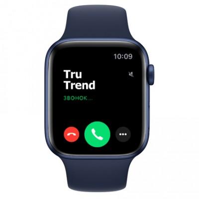 Apple Watch Series 6 GPS, 44mm, корпус из алюминия синего цвета, спортивный ремешок цвета «тёмный ультрамарин»