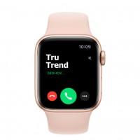 Apple Watch SE GPS, 40mm, корпус из алюминия золотого цвета, спортивный ремешок цвета «розовый песок»