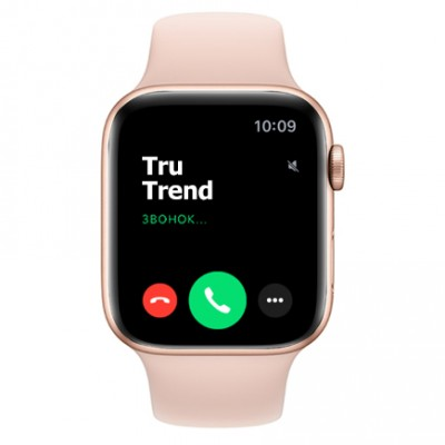 Apple Watch Series 4 GPS + Cellular, 44mm, корпус из алюминия золотого цвета, спортивный ремешок цвета «розовый песок»