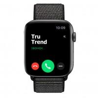 Apple Watch Series 4 GPS + Cellular, 44mm, корпус из алюминия цвета «серый космос», спортивный браслет (Sport Loop) черного цвета