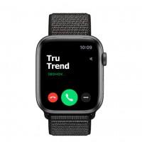 Apple Watch Series 4 GPS, 40mm, корпус из алюминия цвета «серый космос», спортивный браслет (Sport Loop) черного цвета