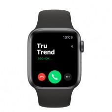 Apple Watch Series 5 GPS, 40mm, корпус из алюминия цвета «серый космос», чёрный спортивный ремешок