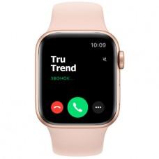 Apple Watch Series 5 GPS, 44mm, корпус из алюминия золотого цвета, спортивный ремешок цвета «розовый песок»