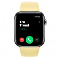 Apple Watch Series 5 GPS + Cellular, 44mm, корпус из стали цвета «черный космос», спортивный ремешок цвета «лимонный мусс»