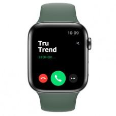 Apple Watch Series 5 GPS + Cellular, 44mm, корпус из стали цвета «черный космос», спортивный ремешок цвета «сосновый лес»