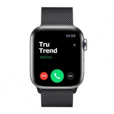 Apple Watch Series 5 GPS + Cellular, 40mm, корпус из стали, миланский сетчатый браслет цвета «черный космос»