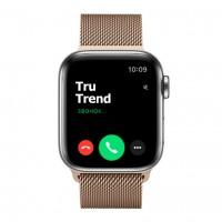 Apple Watch Series 5 GPS + Cellular, 40mm, корпус из стали, золотой миланский сетчатый браслет