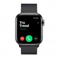 Apple Watch Series 5 GPS + Cellular, 40mm, корпус из стали цвета «черный космос», миланский сетчатый браслет цвета «черный космос»