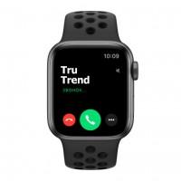 Apple Watch Series 5 Nike+ GPS, 40mm, корпус из алюминия цвета «серый космос», спортивный ремешок цвета «антрацитовый/чёрный»