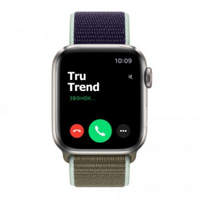 Apple Watch Series 5 Edition GPS + Cellular, 40mm, корпус из титана, спортивный браслет (Sport Loop) цвета «лесной хаки»