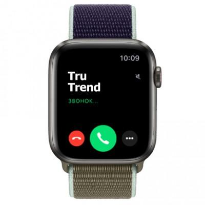 Apple Watch Series 5 Edition GPS + Cellular, 44mm, корпус из титана цвета «черный космос», спортивный браслет (Sport Loop) цвета «лесной хаки»