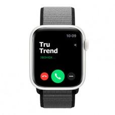 Apple Watch Series 5 Edition GPS + Cellular, 40mm, корпус из керамики белого цвета, спортивный браслет (Sport Loop) цвета «тёмный графит»
