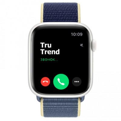 Apple Watch Series 5 Edition GPS + Cellular, 44mm, корпус из керамики белого цвета, спортивный браслет (Sport Loop) цвета «морской лёд»